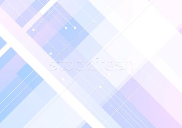 Niebieski fioletowy geometryczny minimalny wektora projektu Zdjęcia stock © saicle