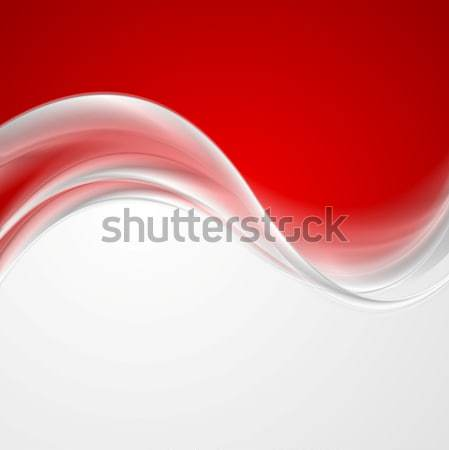 Abstract light red wavy lines background Stock photo © saicle