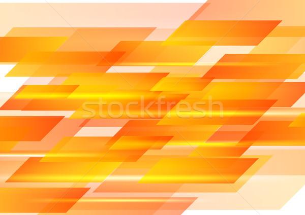 Laranja formas abstrato vetor gráfico geométrico Foto stock © saicle
