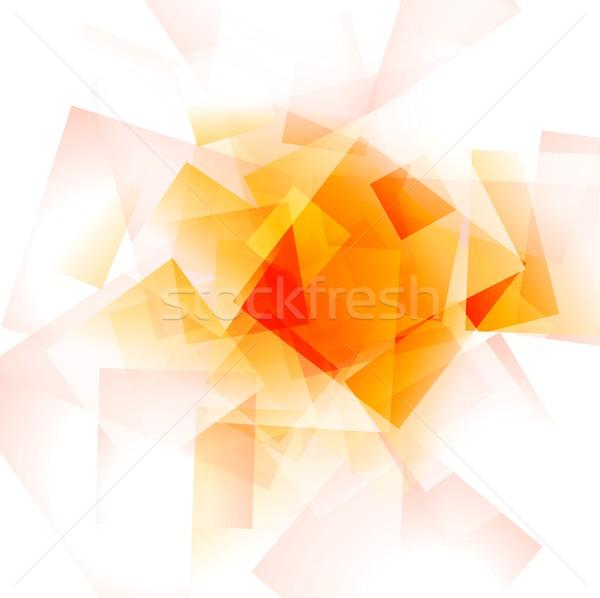 ярко оранжевый геометрический Tech Сток-фото © saicle