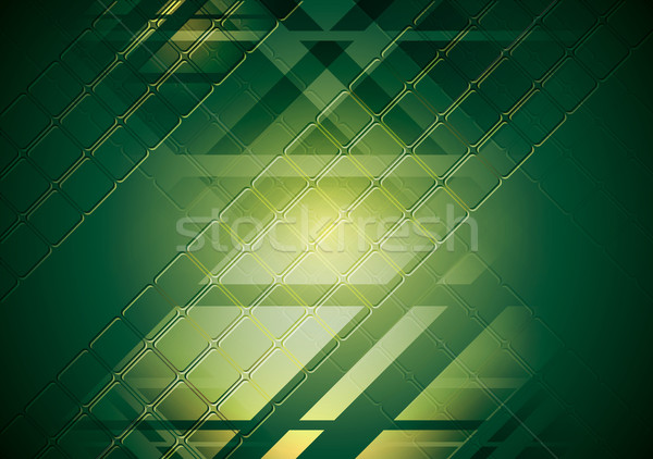 Bright green hi-tech background. Vector design Stock photo © saicle