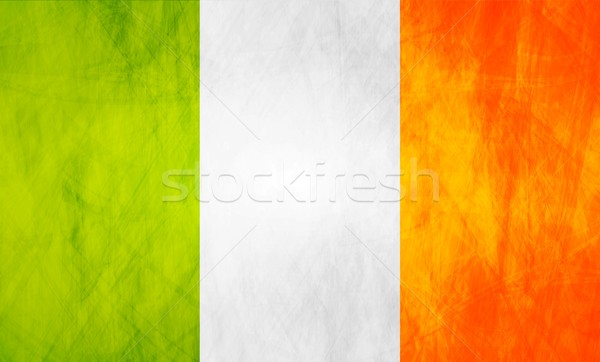 Irish grunge flag Stock photo © saicle