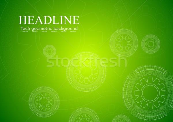 Stockfoto: Heldere · groene · versnellingen · vector · ontwerp · textuur