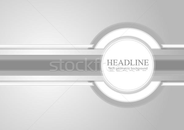 Fény szürke vállalati vektor absztrakt terv Stock fotó © saicle
