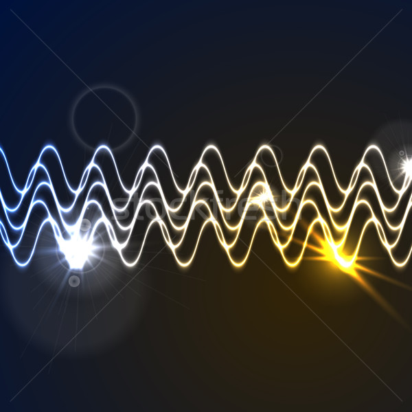 Glowing neon abstract waveform background Stock photo © saicle
