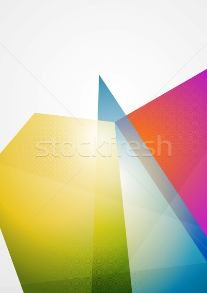 Hellen futuristisch abstrakten Vektor Design eps Stock foto © saicle