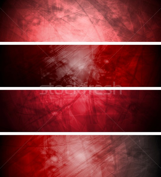 Red textural backgrounds set Stock photo © saicle