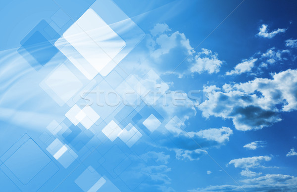 Technology collage with cloudscape Stock photo © saicle