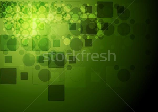 зеленый Tech геометрия вектора дизайна текстуры Сток-фото © saicle