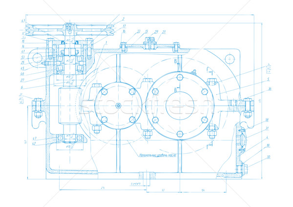 Abstract engineering drawing vector background Stock photo © saicle