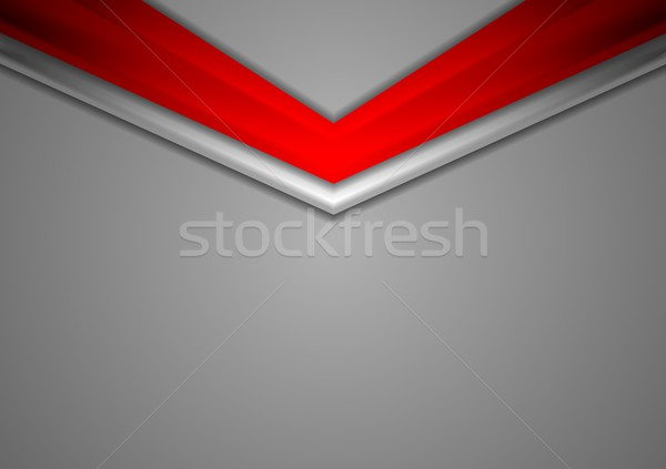 Red grey corporate abstract background Stock photo © saicle