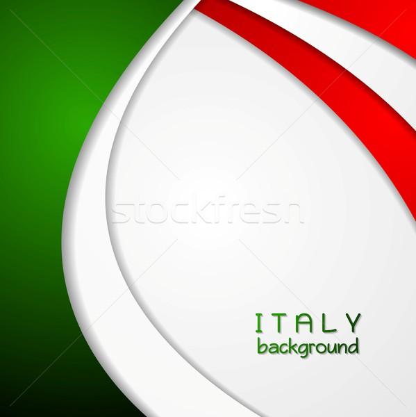 Empresarial ondulado brillante resumen italiano colores Foto stock © saicle