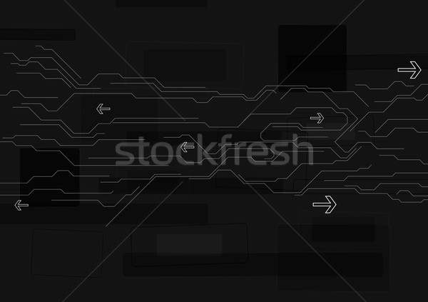 Abstract black technology background Stock photo © saicle