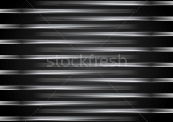 Black metallic striped vector design Stock photo © saicle