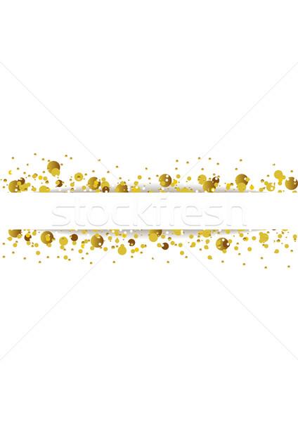 Dourado brilho brilhante partículas vetor abstrato Foto stock © saicle