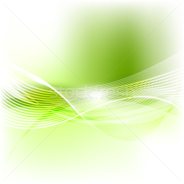 Green abstract smooth blurred waves background Stock photo © saicle