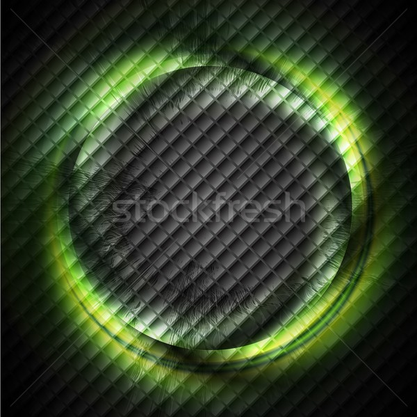 Green ring on dark square texture Stock photo © saicle