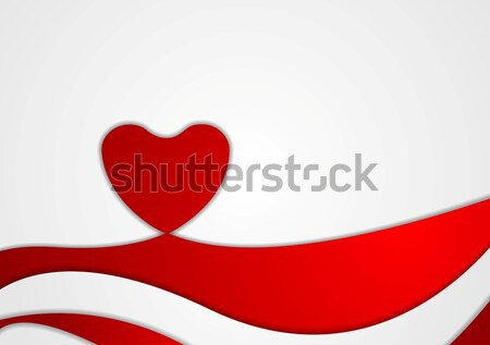 Abstract Valentine background with heart Stock photo © saicle