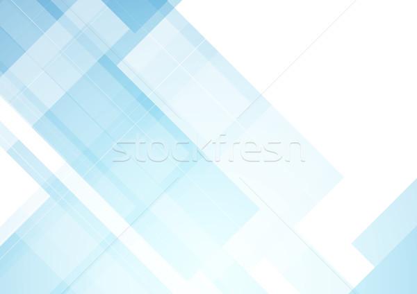 Minimalny niebieski tech streszczenie wektora projektu Zdjęcia stock © saicle