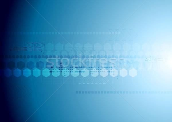 Blue hi-tech background with geometric elements Stock photo © saicle