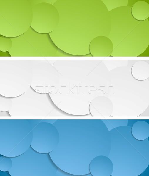 Jasne circles wektora banery kolekcja tekstury Zdjęcia stock © saicle