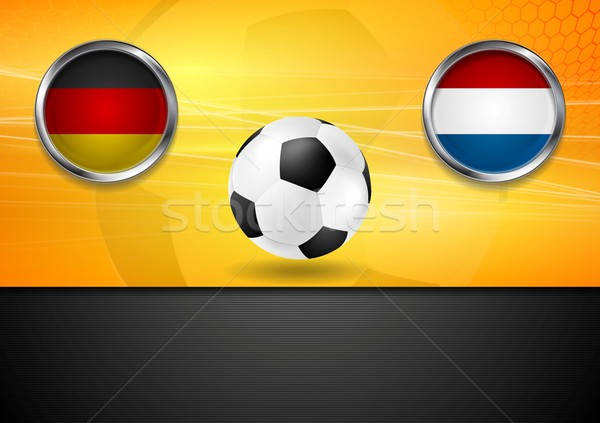 Final football. Germany and Netherlands in Brazil 2014 Stock photo © saicle