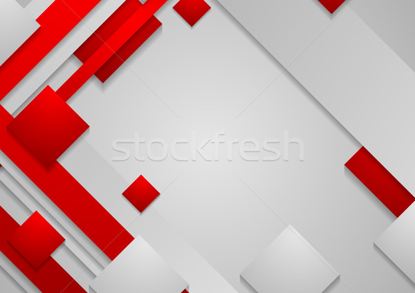 Hi-tech red grey corporate abstract background Stock photo © saicle