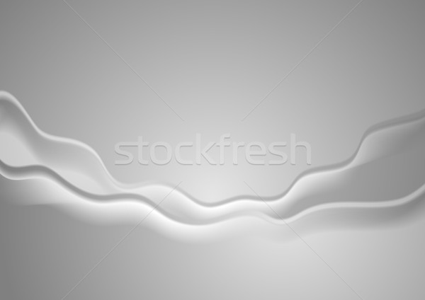 Abstract grijs golvend helling corporate vector Stockfoto © saicle
