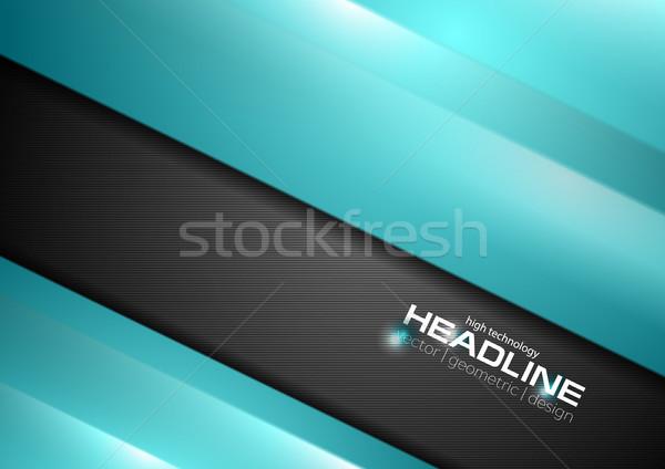 Resumen negro turquesa empresarial vector Foto stock © saicle