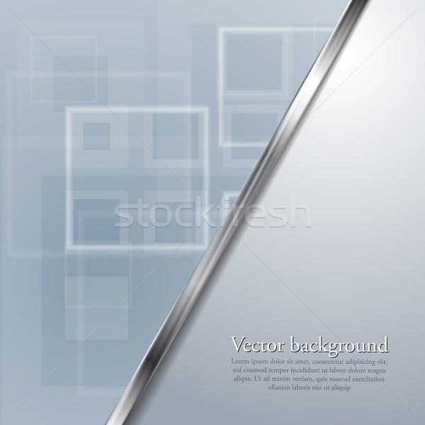 Azul claro brillante tecnología vector resumen geométrico Foto stock © saicle