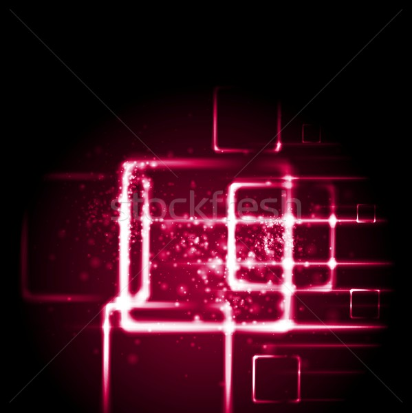 Hochrot rot Tech Vektor glühen Stock foto © saicle