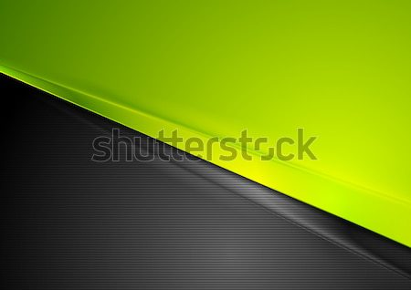 Green and black contrast striped abstraction Stock photo © saicle