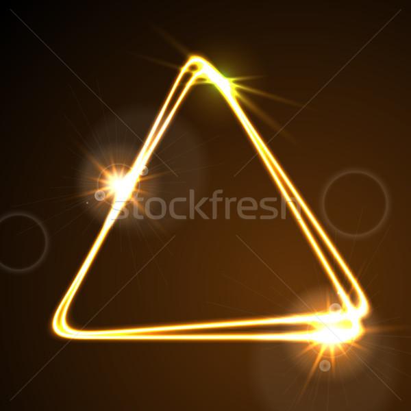 Turuncu neon vektör üçgen enerji Stok fotoğraf © saicle