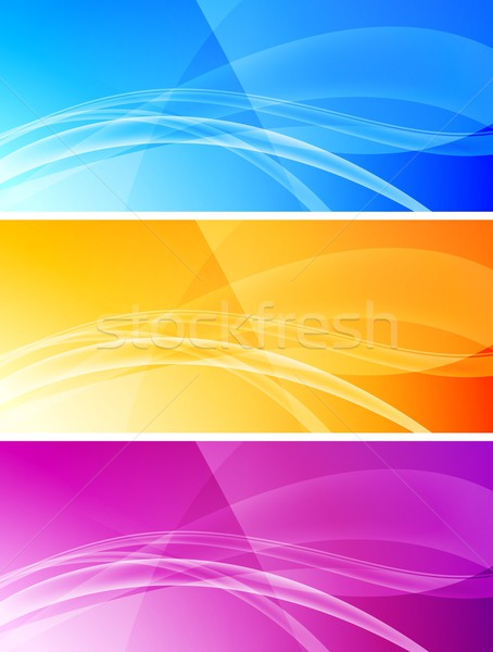 Ingesteld abstract banners eps 10 golvend Stockfoto © saicle