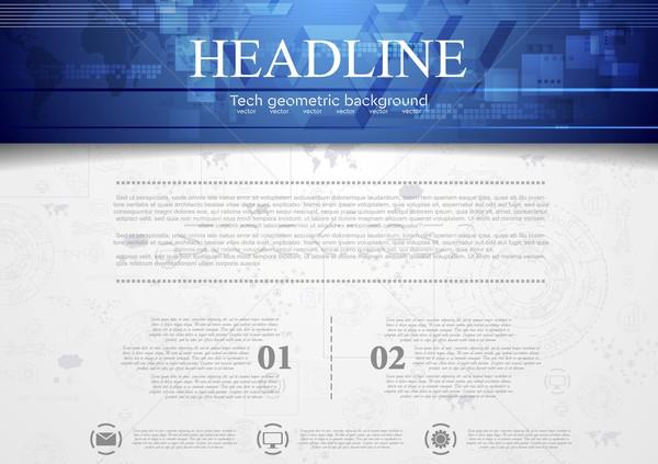 Corporate Blauw vector ontwerp textuur Stockfoto © saicle
