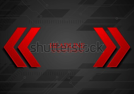 Red and black contrast tech corporate background Stock photo © saicle