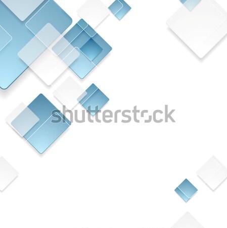 Foto stock: Abstrato · geométrico · tecnologia · azul · projeto