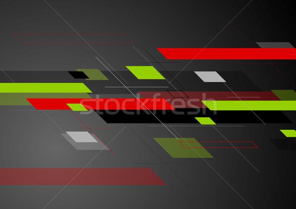 Streszczenie wektora geometryczny minimalny tech jasne Zdjęcia stock © saicle