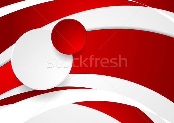 Streszczenie falisty circles wektora grafiki projektu Zdjęcia stock © saicle