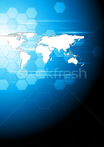 Tech business background Stock photo © saicle