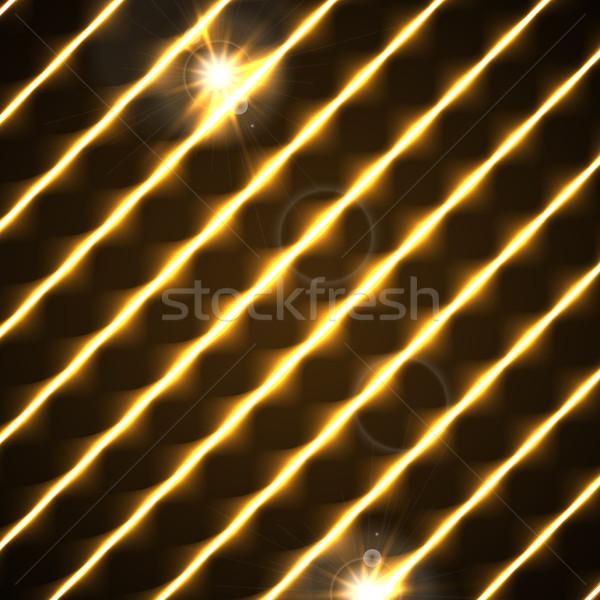Orange retro glowing diagonal lines background Stock photo © saicle
