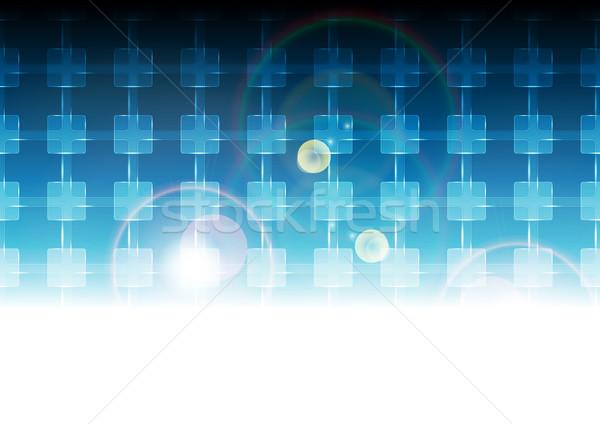 Azul vibrante tecnología patrón vector scifi Foto stock © saicle