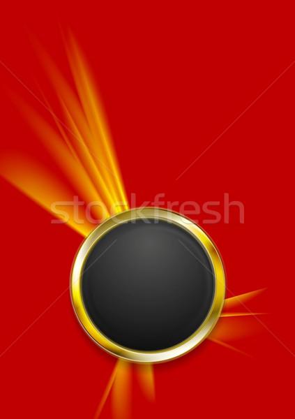 Stok fotoğraf: Soyut · teknoloji · altın · daire · biçim · ışık