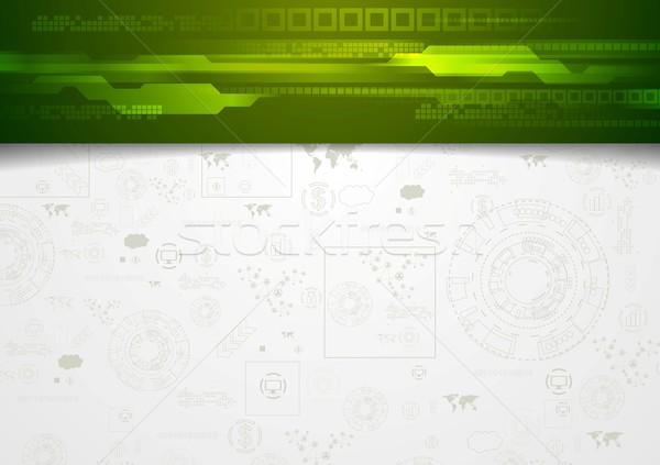 Vállalati zöld fejléc vektor terv absztrakt Stock fotó © saicle