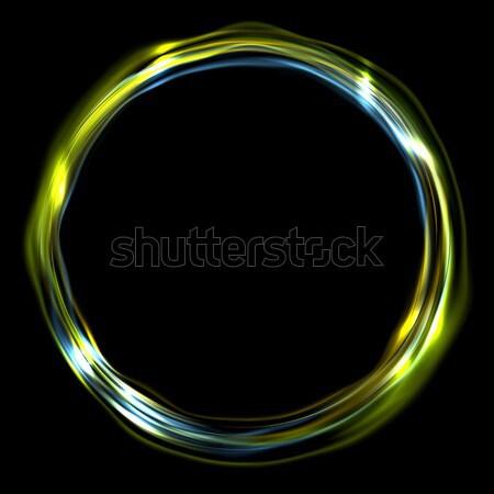 Színes fényes gyűrű kör vektor elektromos Stock fotó © saicle