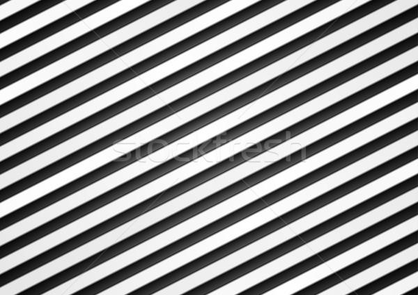 Black and white vector stripes pattern design Stock photo © saicle