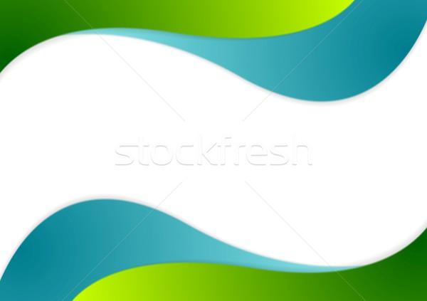 Corporate bright wavy background Stock photo © saicle