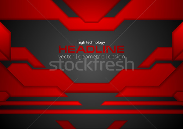 抽象的な 赤 黒 ハイテク レイアウト ベクトル ストックフォト © saicle