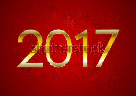 Red New Year 2017 abstract vector background Stock photo © saicle
