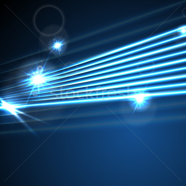 Neon glowing laser beams lines abstract background Stock photo © saicle